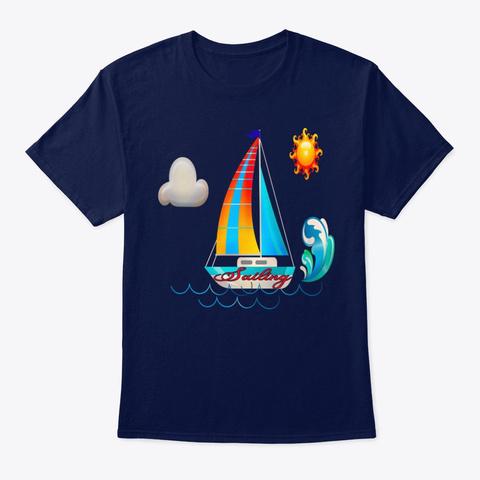 Nautical Sailing Tee S Hirt Navy T-Shirt Front