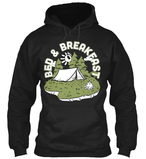 Bed & Breakfast Black T-Shirt Front