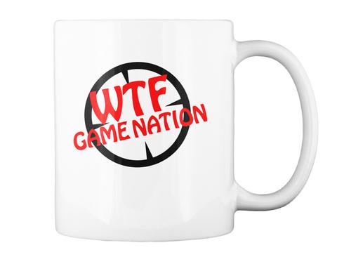Wtf Game Nation White T-Shirt Back