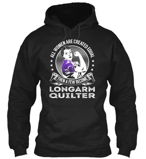 Longarm Quilter   Become Black T-Shirt Front