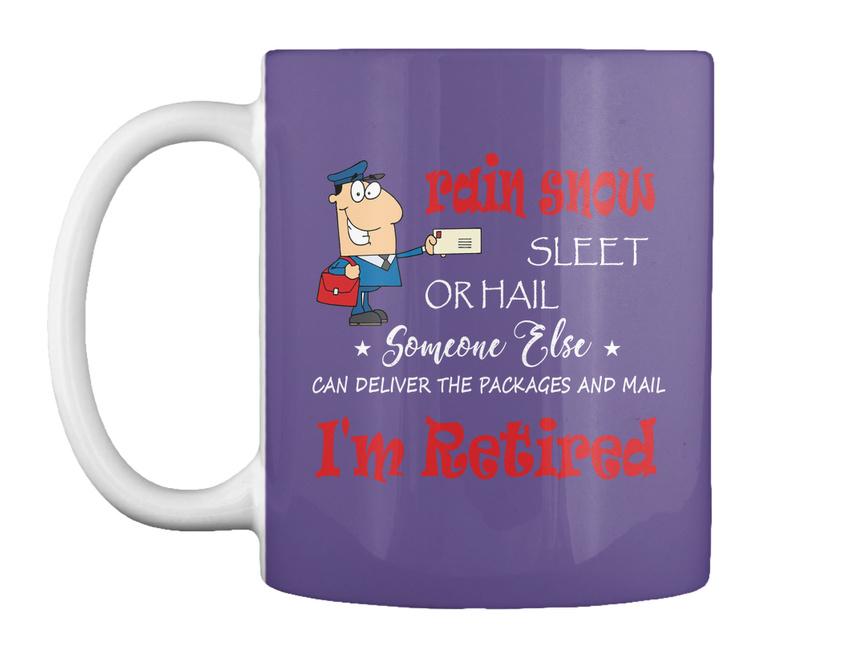 miniature 23 - Funny Retired Postal Worker Mailman Tee - Rain Suck Sleet Or Gift Coffee Mug