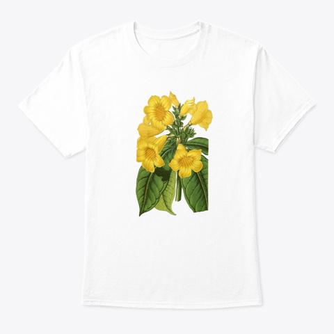 Botanical Vintage Floral Vintage White T-Shirt Front