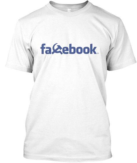 Facebook White T-Shirt Front