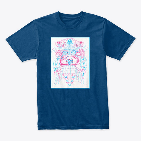 Oulta  In Color    Art By Cam Collins Cool Blue T-Shirt Front