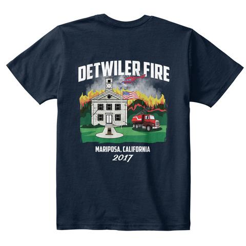 Detwiler Fire Kids Tee New Navy T-Shirt Back