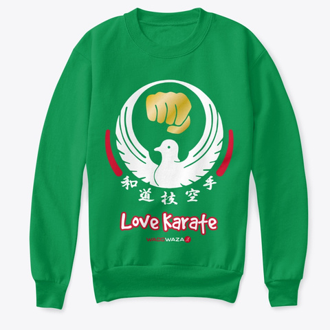 Love Karate For Kids Kelly Green  T-Shirt Front