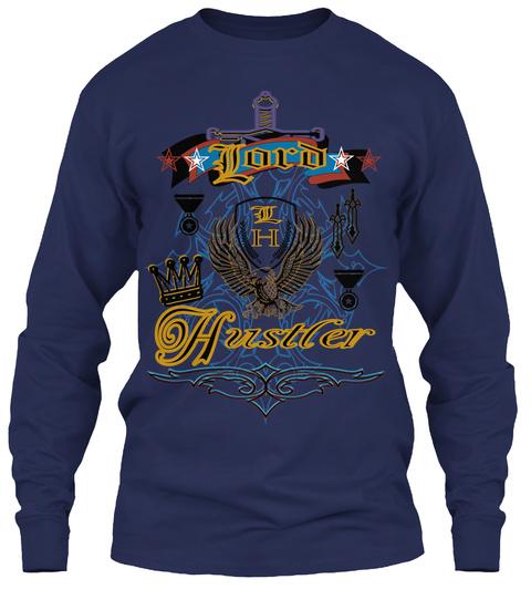 Ord L L H H Ustler Navy T-Shirt Front