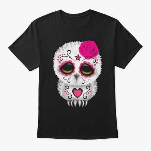 Owl Sugar Skull Trick Or Treat Pumpkin H Black T-Shirt Front