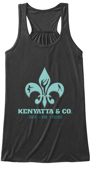 Kenyatta & Co. Fitness Dance Wellness Dark Grey Heather T-Shirt Front