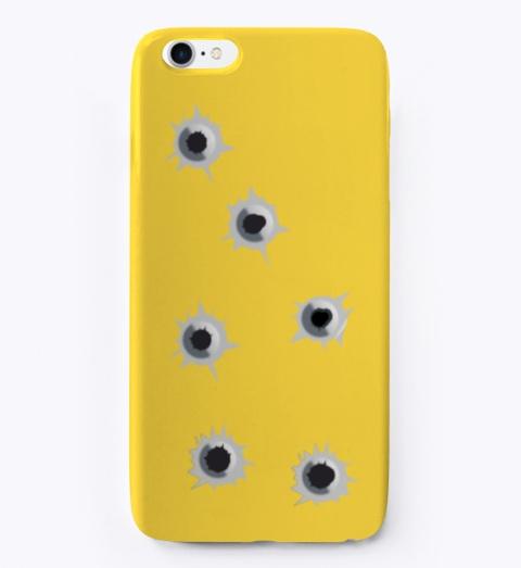 Shots Yellow Maglietta Front