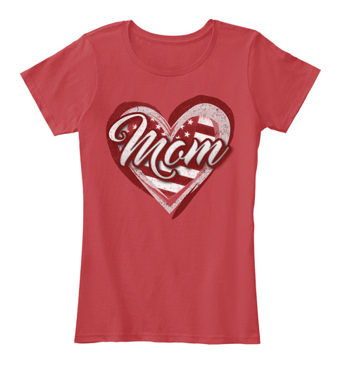 Mom Classic Red Women's T-Shirt Front