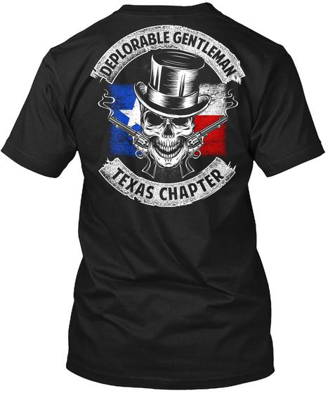 Deplorable Genltenman Texas Chapter Black T-Shirt Back