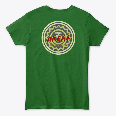 Sproutfuel:  Areal Unisex T Irish Green T-Shirt Back
