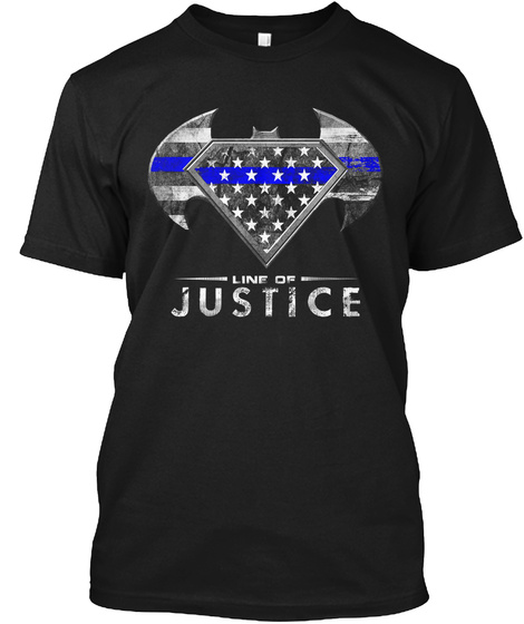 Line Of Justice  Black T-Shirt Front