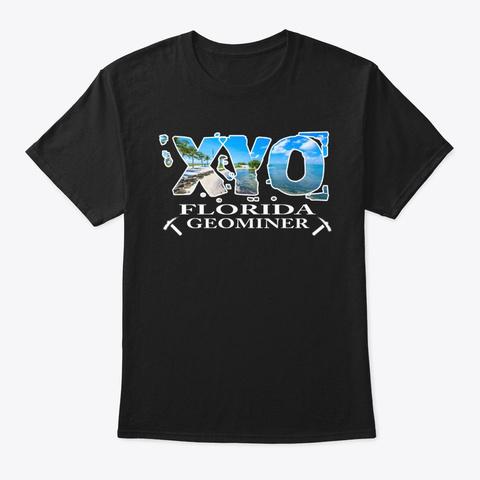 Xyo Florida Design Black T-Shirt Front