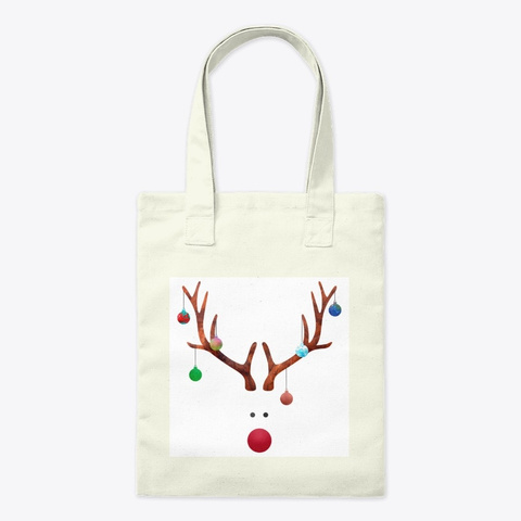 Rudolph In Christmas Balls  Natural T-Shirt Front