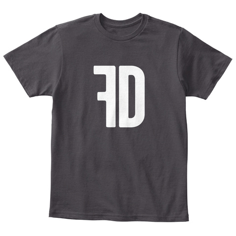 Fd Heathered Charcoal  T-Shirt Front