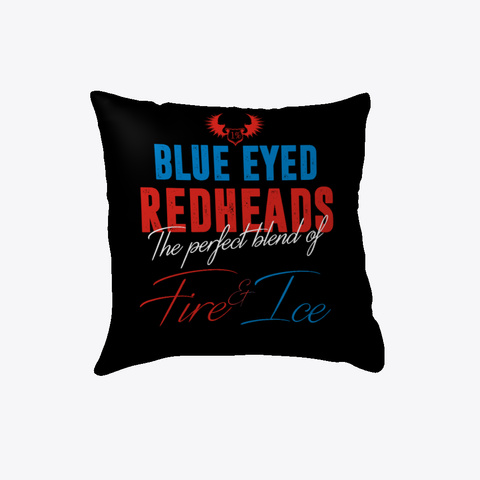 Blue Eyed Redheads The Perfect Blend Of Fire & Ice Black T-Shirt Front