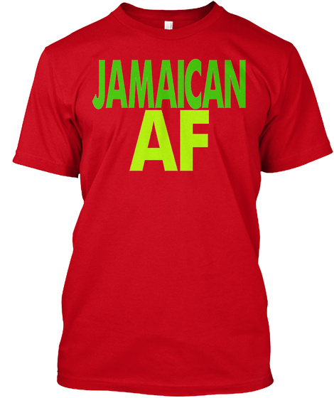 Jamaican Af  Red T-Shirt Front