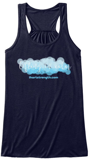 Lifting In Color: Blue Midnight Women's Tank Top Front