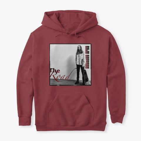 The Road V1 Album Merch Maroon T-Shirt Front