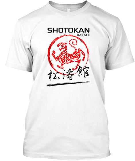 Shotokan Karate Tiger Martial Arts Tshir White T-Shirt Front