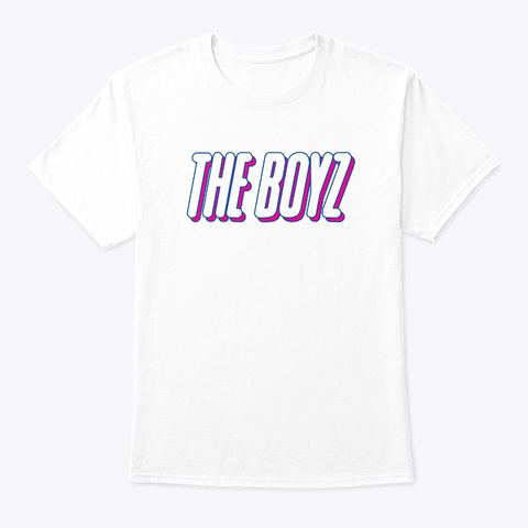 Kpop  The Boyz Official Logo White T-Shirt Front