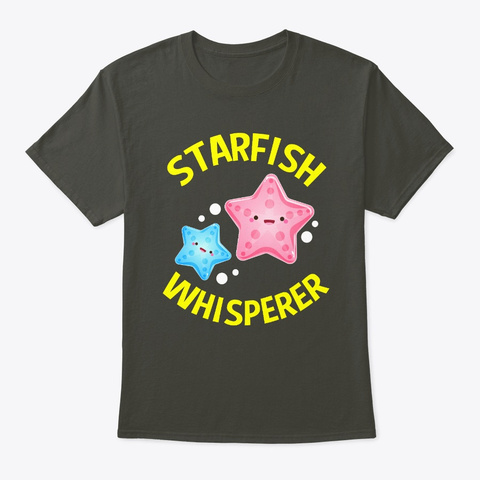 Starfish Whisperer Smoke Gray T-Shirt Front