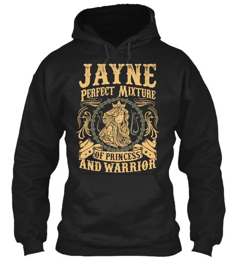 Jayne Pefect Mixture Of Princess Black T-Shirt Front