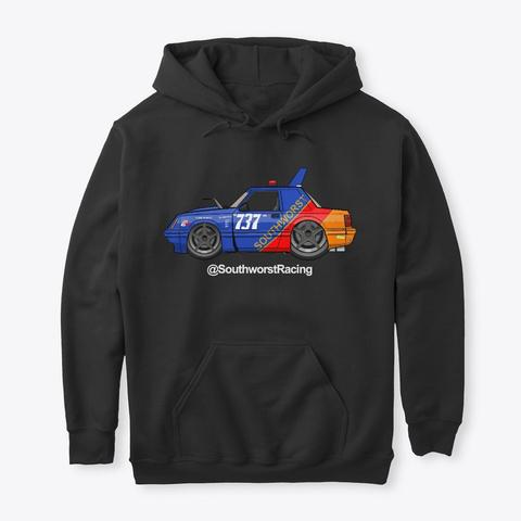 Southworst Racing #737 Fox Mustang Black T-Shirt Front