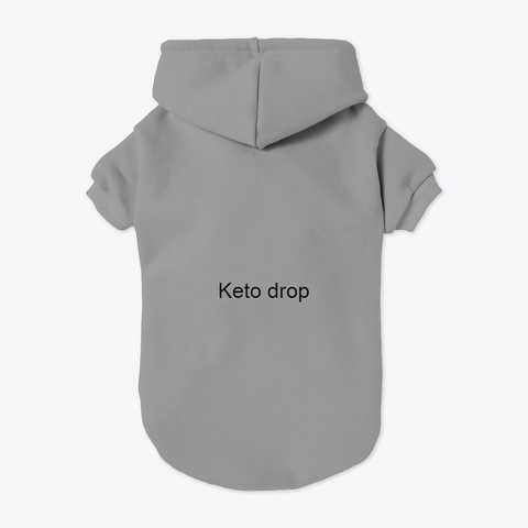 Keto Drop Grey T-Shirt Back
