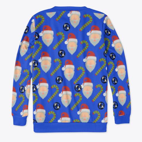 Happy Holidays  Royal Blue T-Shirt Back