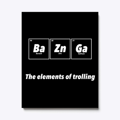 The Elements Of Trolling Canvas Black T-Shirt Front