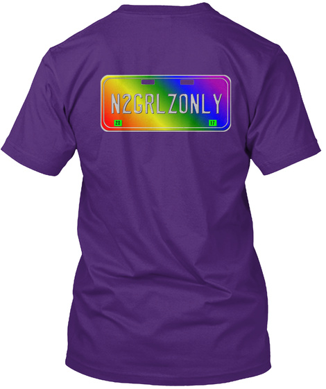 N2 Grlzonly! Purple T-Shirt Back