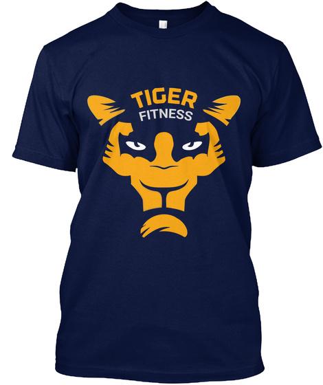 Tiger 🐯 Bodybuilding Navy T-Shirt Front