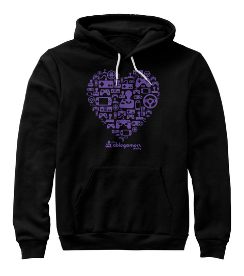 The Ablegamers Charity Black Sweatshirt Front