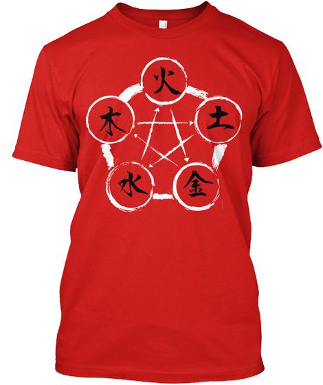 Godai   五大 Red T-Shirt Front