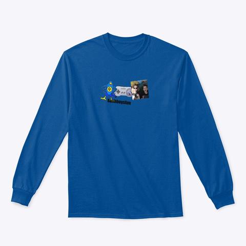 Official Bushboysfun Merch Royal T-Shirt Front