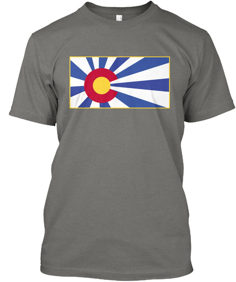 Native 303 Unisex Colorado Sun Tee Grey áo T-Shirt Front