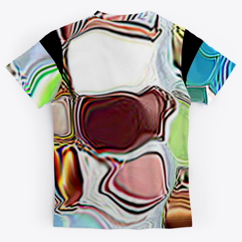 Abstract Painting And Art Black T-Shirt Back