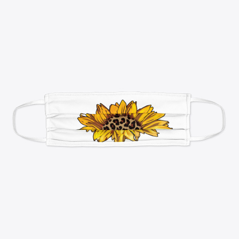 Awesome  Sunflower  Face Mask  Standard T-Shirt Flat