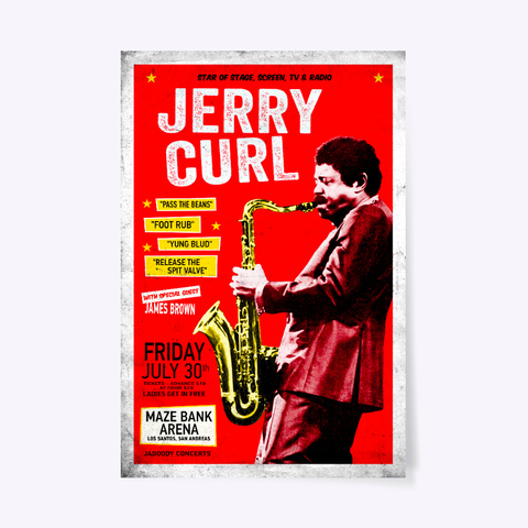 Jerry Curl Poster Standard T-Shirt Front