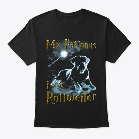 Patronus   Rottweiler Black T-Shirt Front