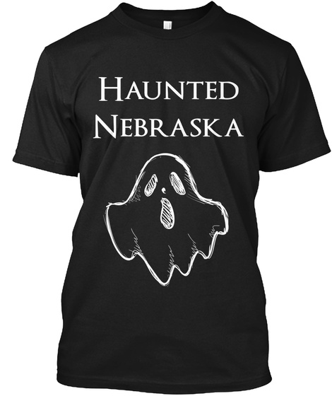 Haunted Nebraska Black T-Shirt Front