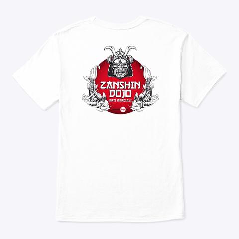Zanshin Dojo Master Logo White T-Shirt Back