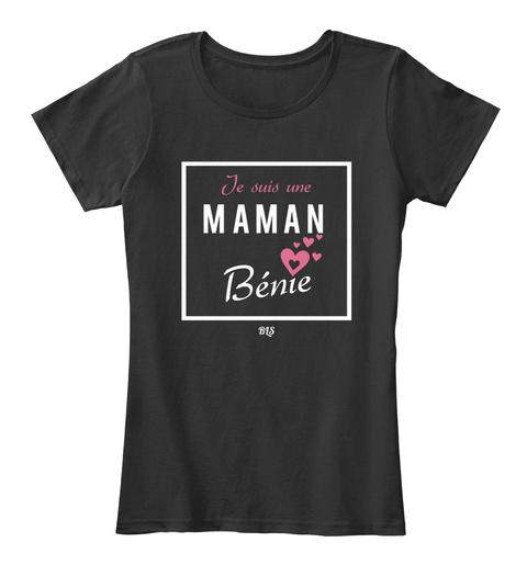 Je Suis Une Maman Benie Black T-Shirt Front