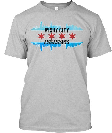Windy City Assassins Light Heather Grey  T-Shirt Front