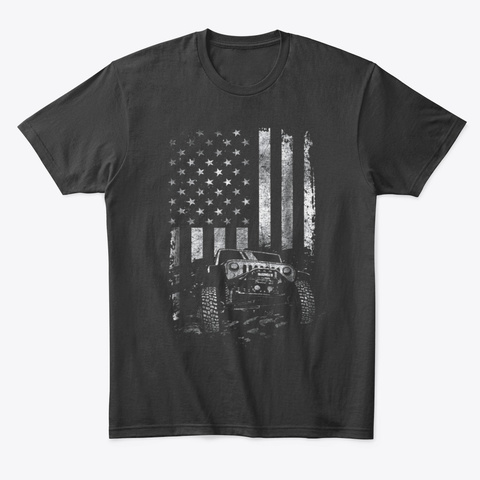 American Flag Usa Patriots Veteran Black T-Shirt Front