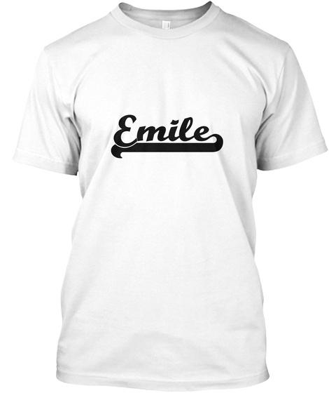 Emile White T-Shirt Front