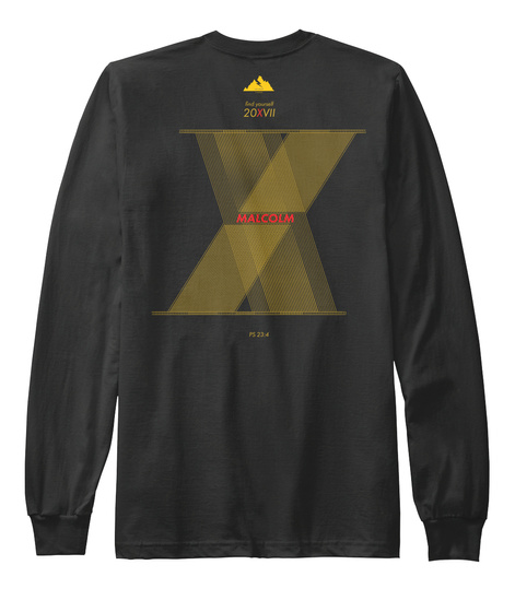 Malcolm Black Long Sleeve T-Shirt Back